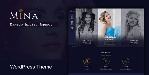 Download Mina - Salon & Makeup WordPress theme            nulled nulled version