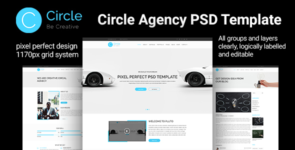 Circle Agency PSD Template            nulled