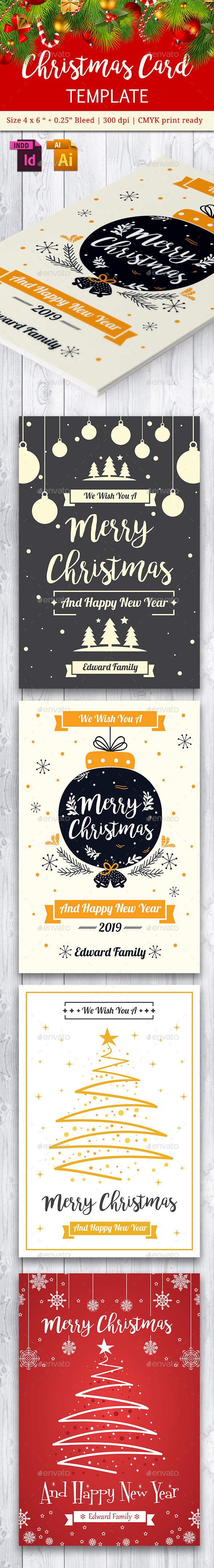 Christmas Card Vol. 4 - Cards & Invites Print Templates
