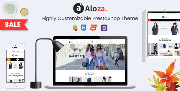 ThemeForest Aloza Creative Responsive PrestaShop 1.7 Fashion Theme 20883902