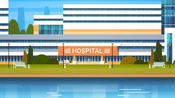 GraphicRiver Hospital Building Exterior Modern Clinic View 20962529