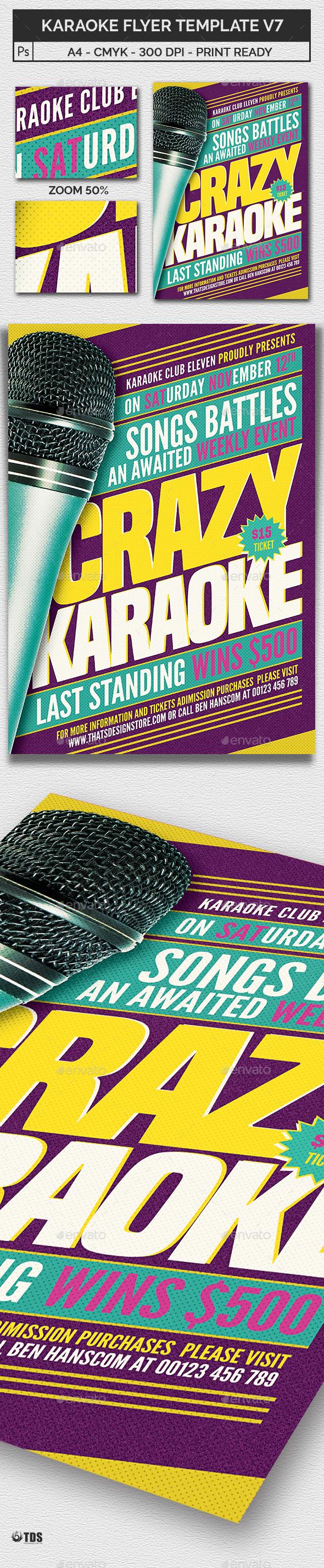 Karaoke Flyer Template V7 - Concerts Events
