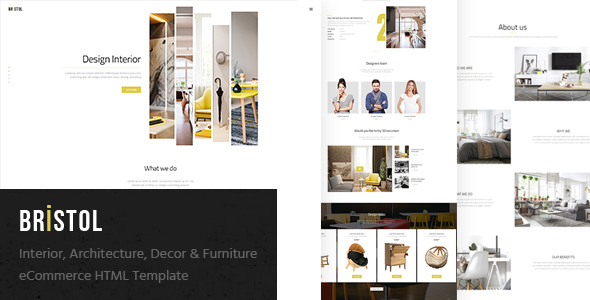 Bristol - Interior / Architecture / Decor & Furniture eCommerce HTML Template - Shopping Retail