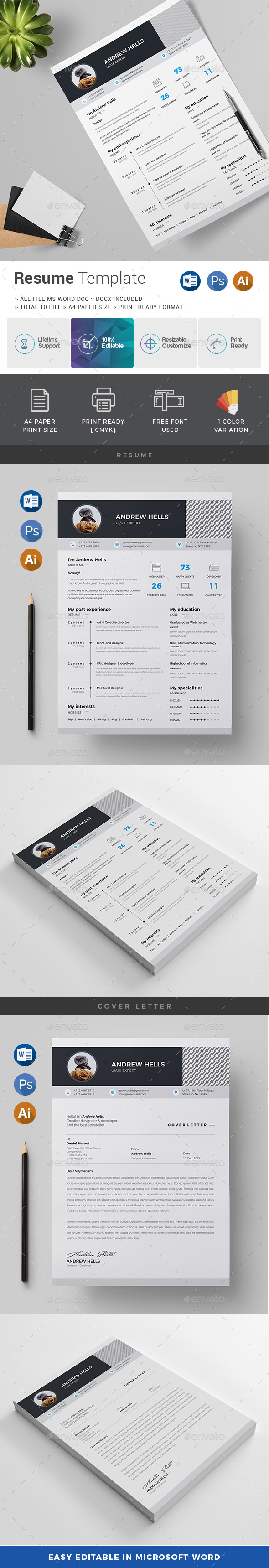 GraphicRiver Resume CV 20962634