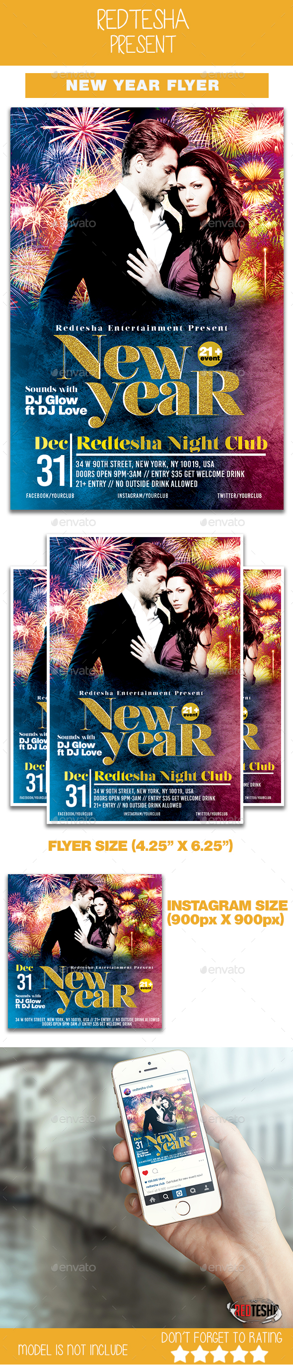 GraphicRiver New Year Party Flyer 20962857