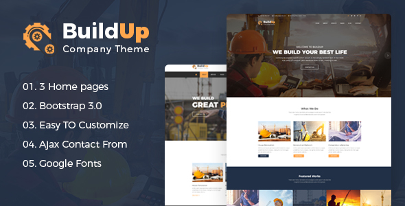 Buildup - Construction Building Company HTML Template - Business Corporate