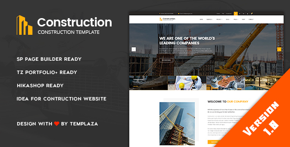 Construction - Building & Architect Joomla Template