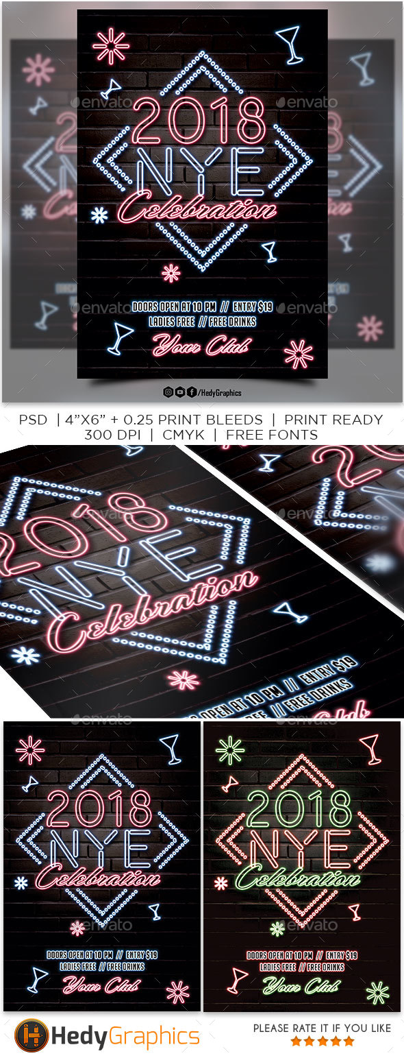 GraphicRiver 2018 New Year Eve 20962985