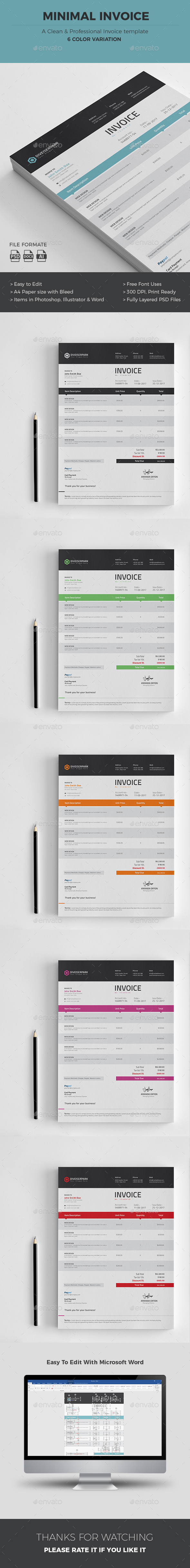 GraphicRiver Invoice 20963055
