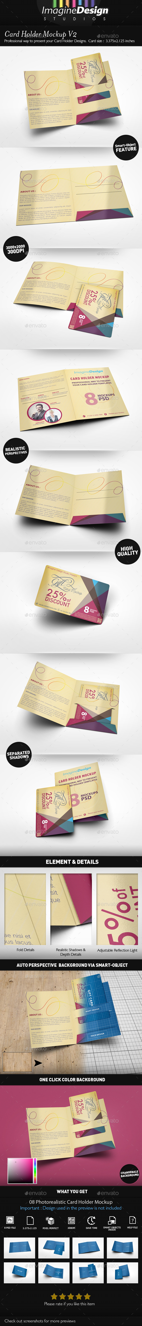 GraphicRiver Card Holder Mockup V2 20963095