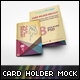 Card Holder Mockup V2 - GraphicRiver Item for Sale