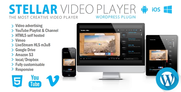 CodeCanyon Stellar Video Player Wordpress plugin 20939246