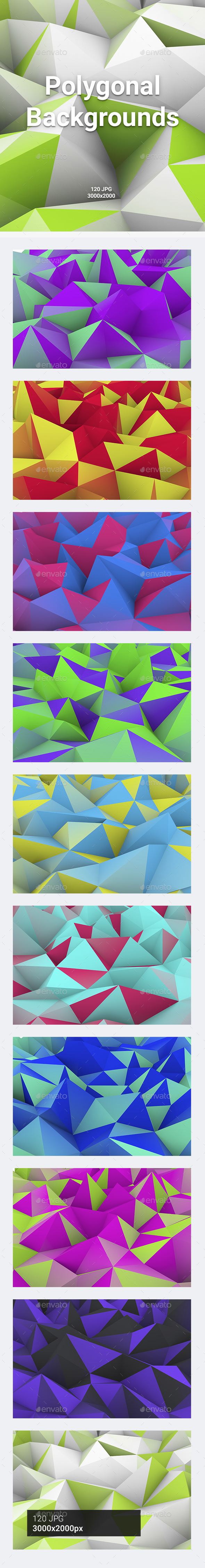 GraphicRiver 120 Polygonal Backgrounds 20963342