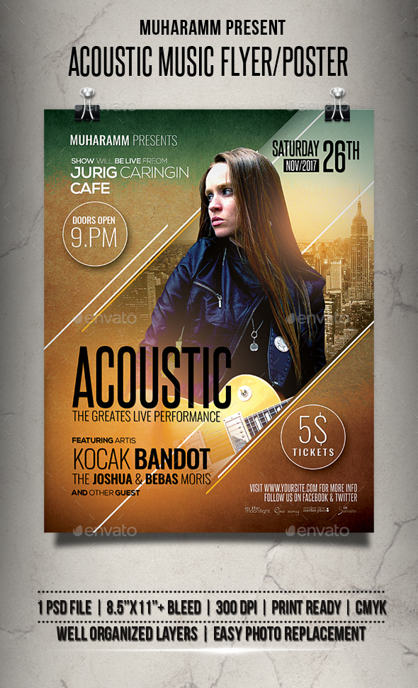 GraphicRiver Acoustic Music Flyer Poster 20963401