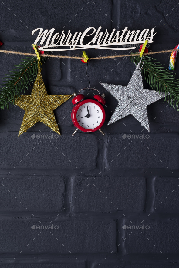 Christmas fir tree with decoration - Stock Photo - Images