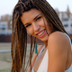 Portrait of attractive asian model girl with braided hairstyle. - PhotoDune Item for Sale