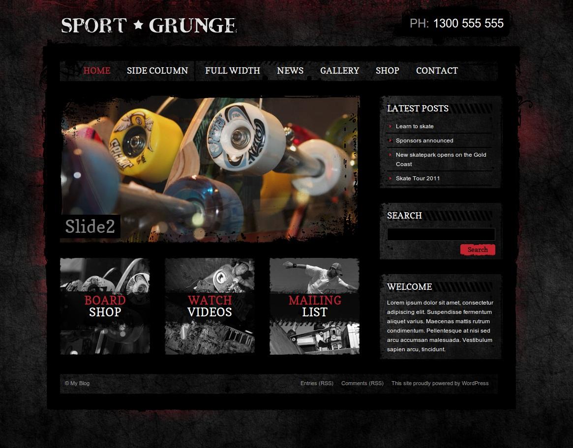 Sport Grunge WordPress Shop by dtbaker | ThemeForest