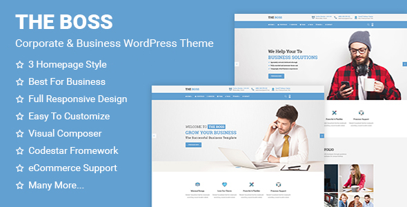 The Boss- Corporate & Business WordPress Theme