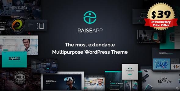 ThemeForest RaiseApp Multipurpose Business & Agency WordPress Theme 20528572
