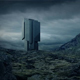 Futuristic Building In Mountain Landscape - VideoHive Item for Sale