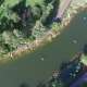 Aerial Drone Flight Footage of Geese on the River - VideoHive Item for Sale