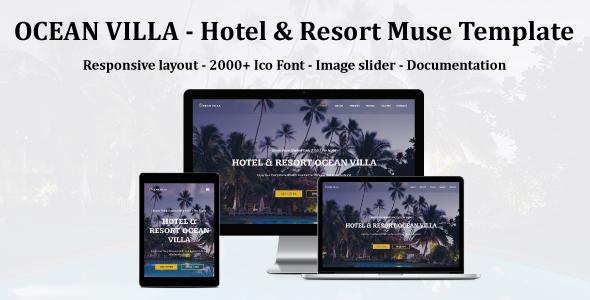 OCEAN VILLA - Hotel & Resort Muse Template