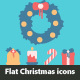 Flat Christmas Icons Set - GraphicRiver Item for Sale
