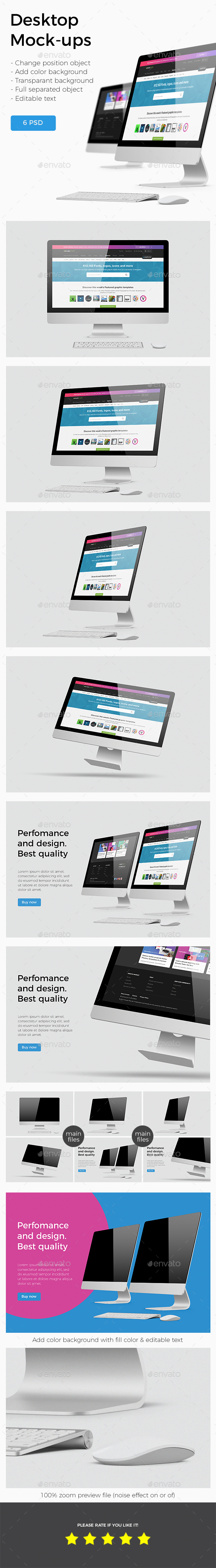 GraphicRiver Imac Desktop Screen Mockup 20964217