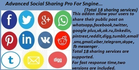 Advanced Social Sharing Pro For Sngine - CodeCanyon Item for Sale