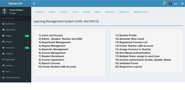 Learning Management System (LMS) .Net MVC5 - CodeCanyon Item for Sale