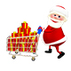 Santa with the Trolley with Gifts - VideoHive Item for Sale