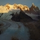 Flight Over Cerro Torre Mountain and Laguna Torre at Sunrise. Patagonia, Argentina - VideoHive Item for Sale