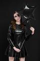 Beautiful goth mistress evil girl