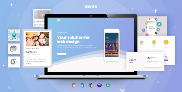 Zenth Modern Responsive App & Corporate HTML5 Template            nulled
