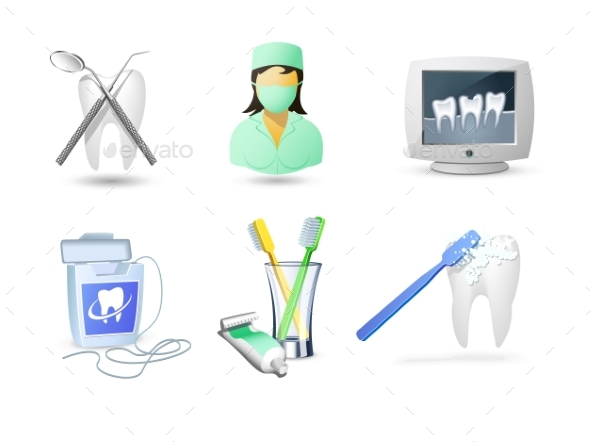 Accessories for Dental Care - Health/Medicine Conceptual