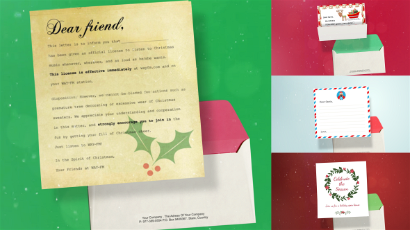 VideoHive Christmas Opening Letter 20965738