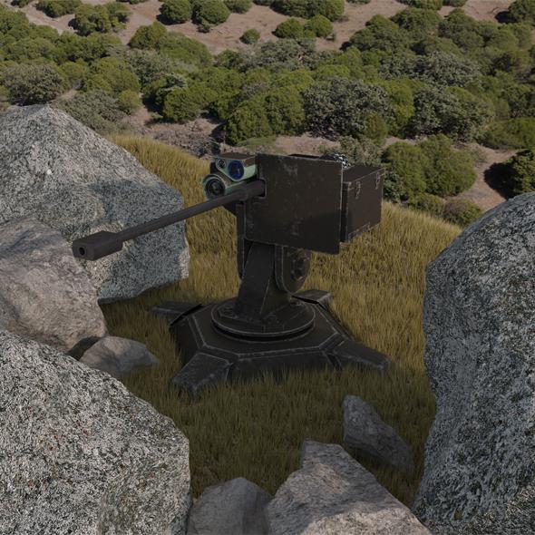 Combat automatic turret - 3DOcean Item for Sale