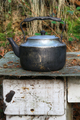 Worn teapot on old stove - PhotoDune Item for Sale