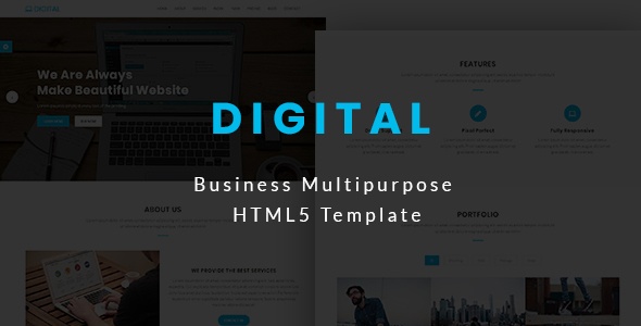 Download Digital - Business Multipurpose HTML5 Template            nulled nulled version