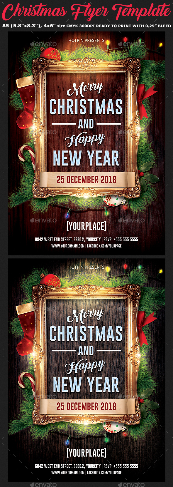GraphicRiver Christmas New Year Flyer Template 20966015