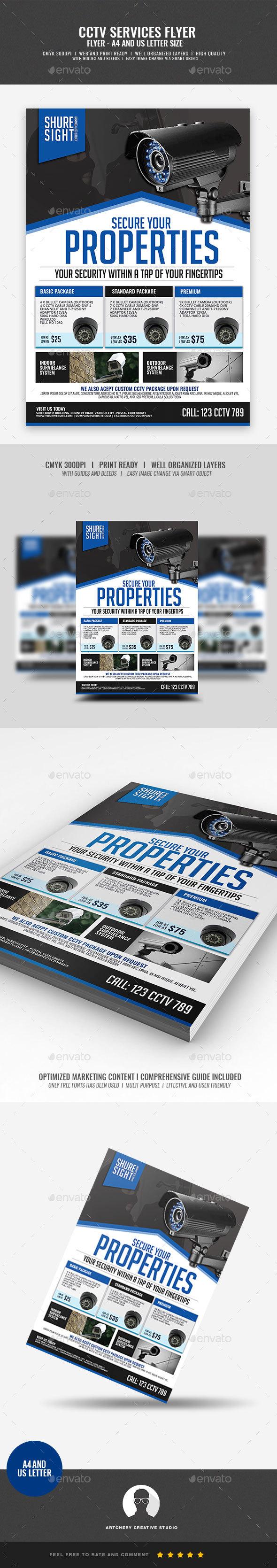 CCTV Surveillance Camera Shop - Corporate Flyers