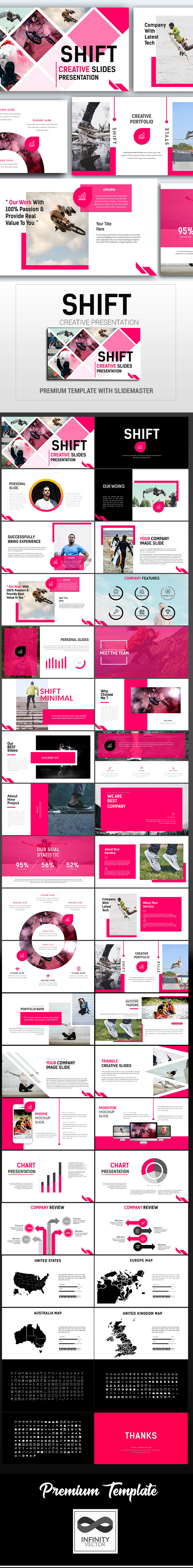 Shift Creative Presentation - PowerPoint Templates Presentation Templates