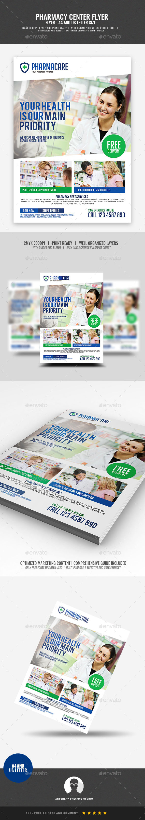 GraphicRiver Pharmacy Company Flyer 20966469
