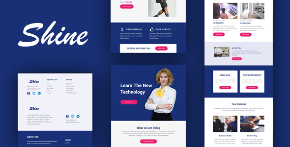 ThemeForest Shine Multipurpose Email & Online Builder 20890918
