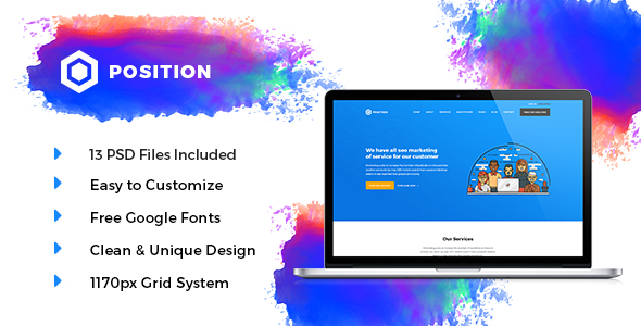POSITION –  Marketing PSD Template