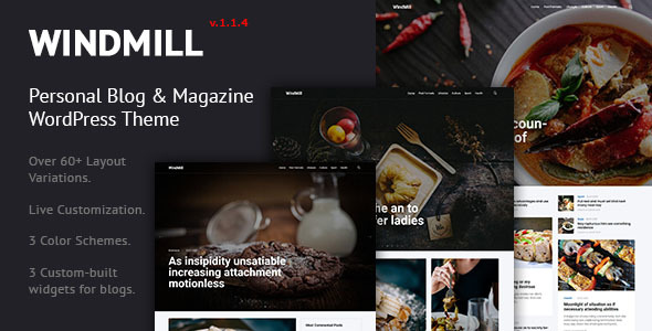 WindMill - Personal Blog & Magazine WordPress Theme - Personal Blog / Magazine