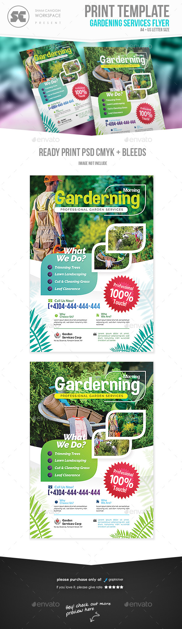 GraphicRiver Garden Services Flyer 20966790