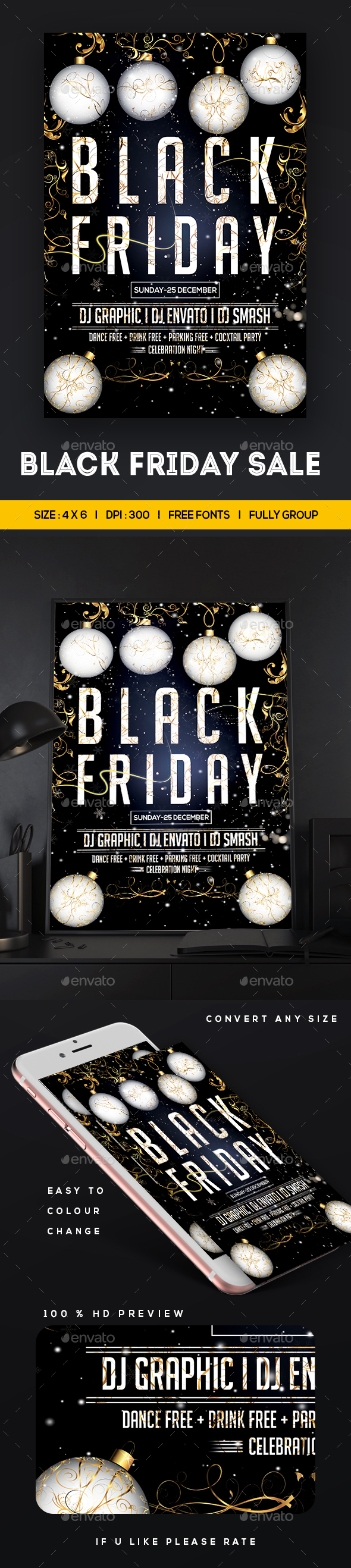 GraphicRiver Black Friday Sale Flyer 20966989