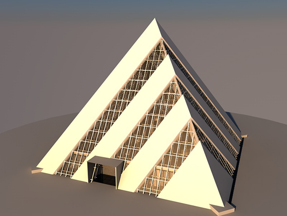 3DOcean Pyramid building with interior 20967008