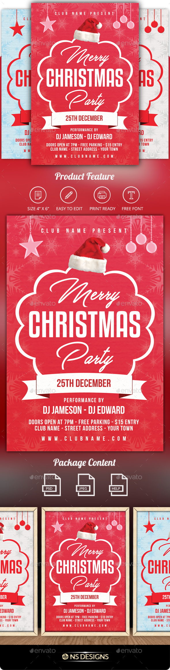 GraphicRiver Christmas Flyer 20944683